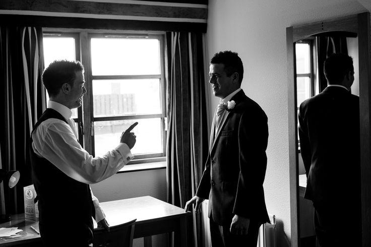 A few last minute words of advice from the best man