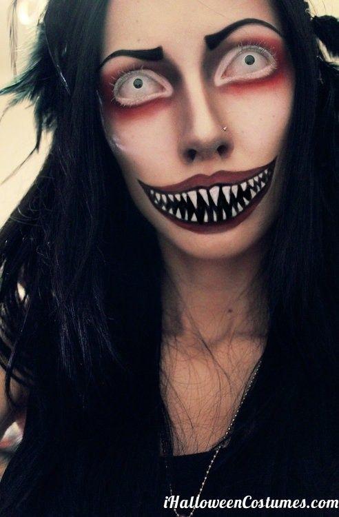 43 best freaky halloween makeup images on Pinterest | Halloween ...