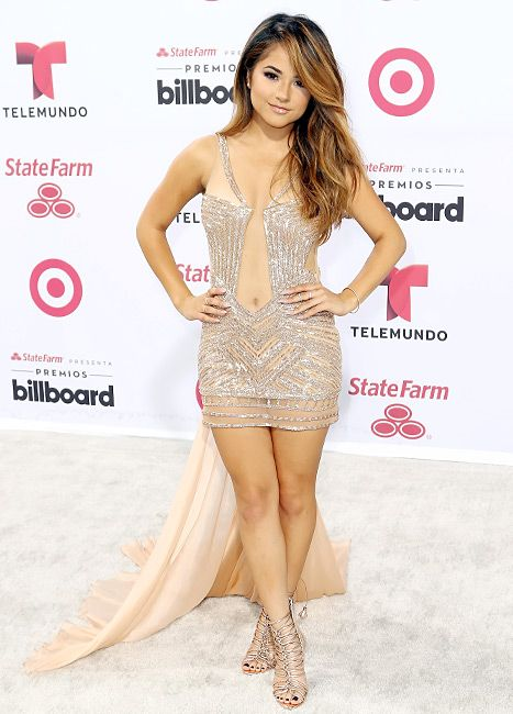 Becky G works a rose gold minidress at 2015 Billboard Latin Music Awards on April 30, in Miami.