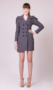 Marilyn Coat in Light Charcoal  http://www.wrato.com/content/marilyn-charcoal