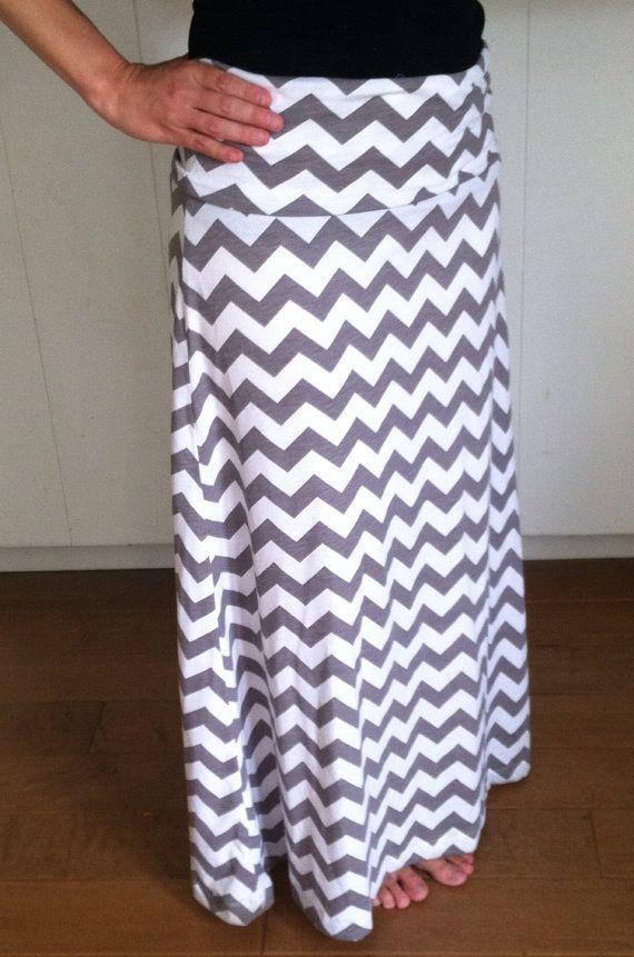 Womens Chevron Maxi Skirt by j2botique on Etsy