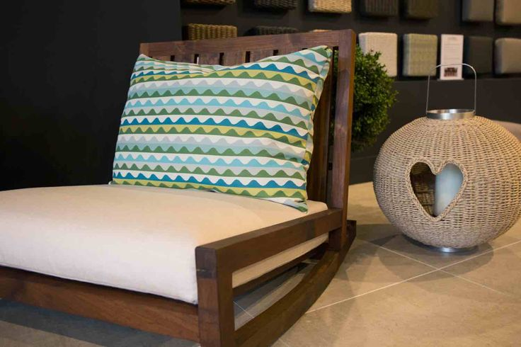 Rocking - chair - Sunbrella - fabric - scatter cushion - Recycled Teak