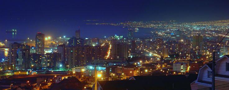 Noche en Antofagasta
