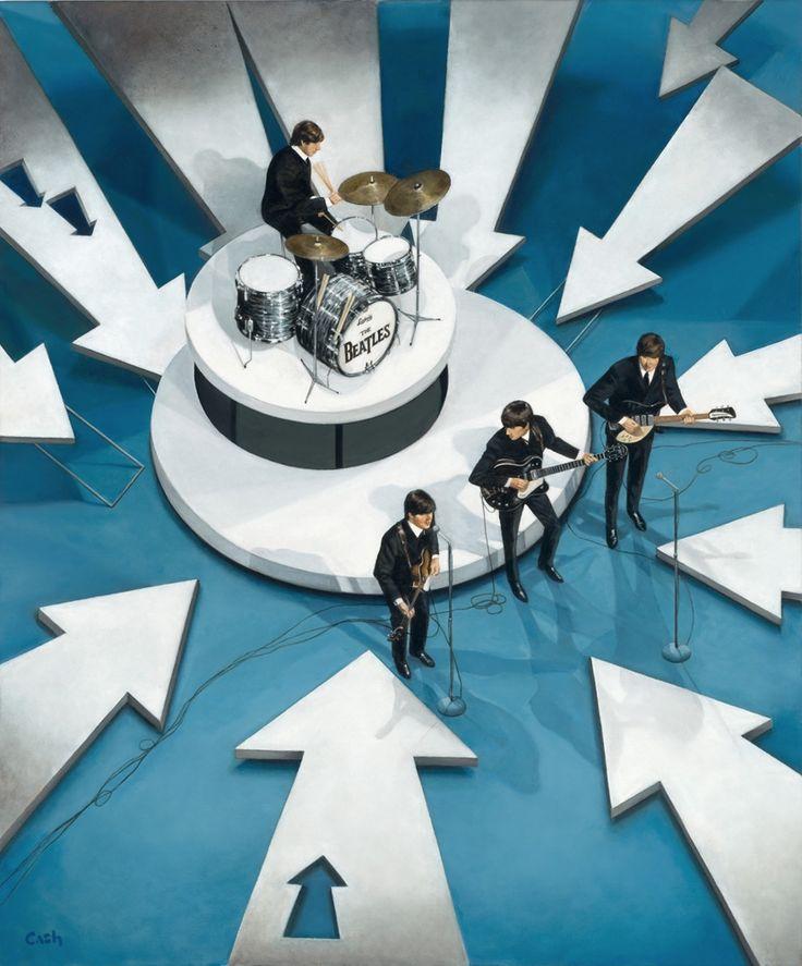 "The Beatles perform on the CBS ""Ed Sullivan Show"" in New York. 1964"