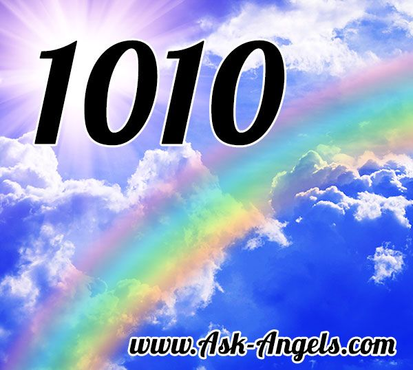 The angel number 1010 is a call from the angels to stay positive, and to focus on your next steps on the Divine path appearing before you.