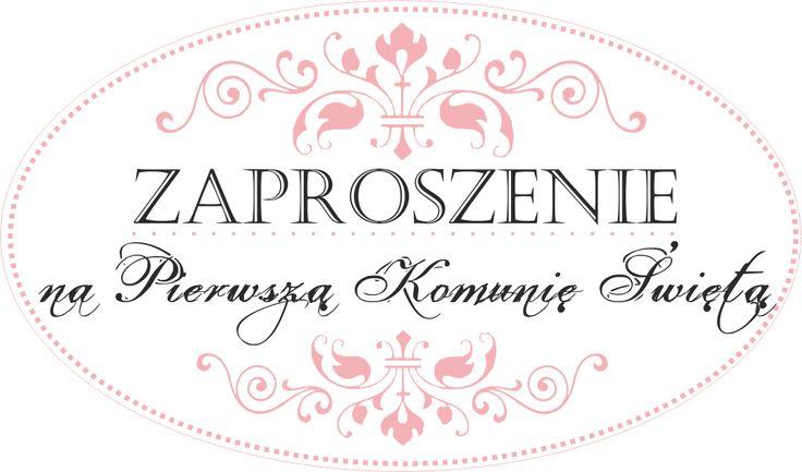 58. Zaproszenie - Komunia Święta / Invitation - Holy Communion