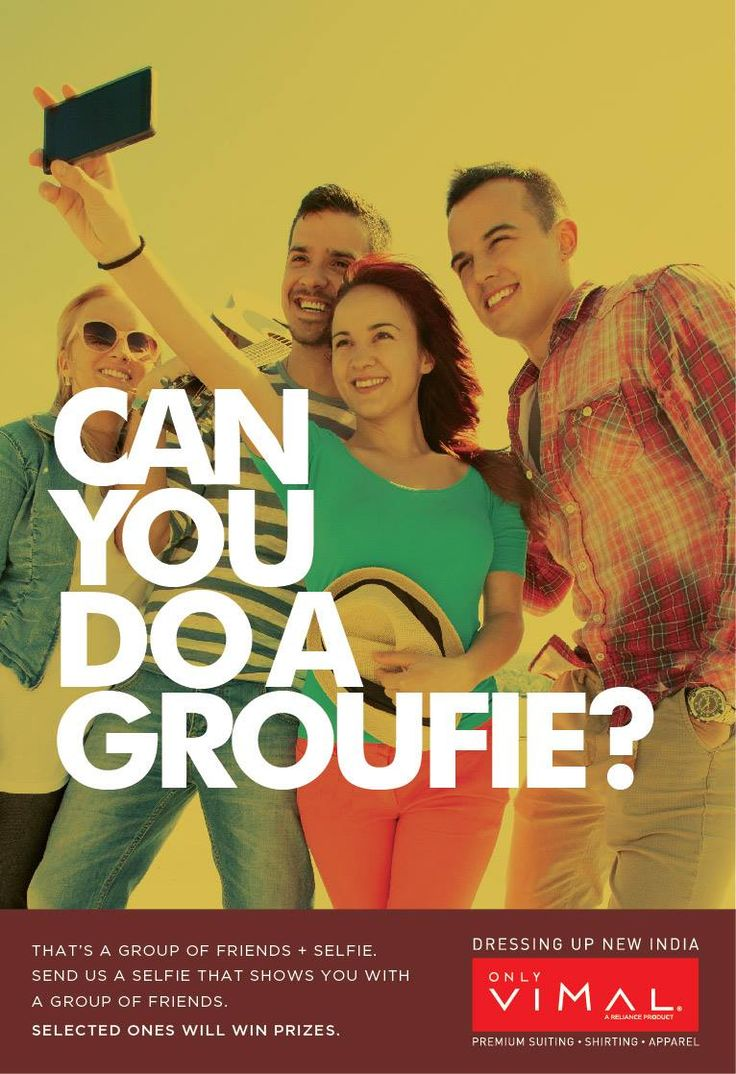 All you people out there, share with us your Groufie - That's a group of friends + Selfie & #Win exciting prizes.