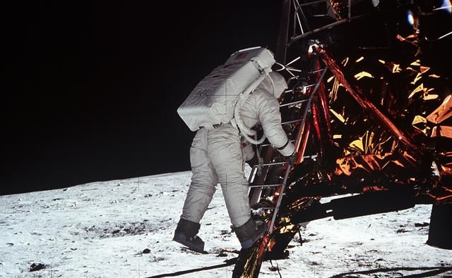 BBC. Moon landing conspiracy theories. On 20 July 1969 Apollo 11 landed on the Moon. However, some people insist that the United States faked the landing in film studios here on Earth.