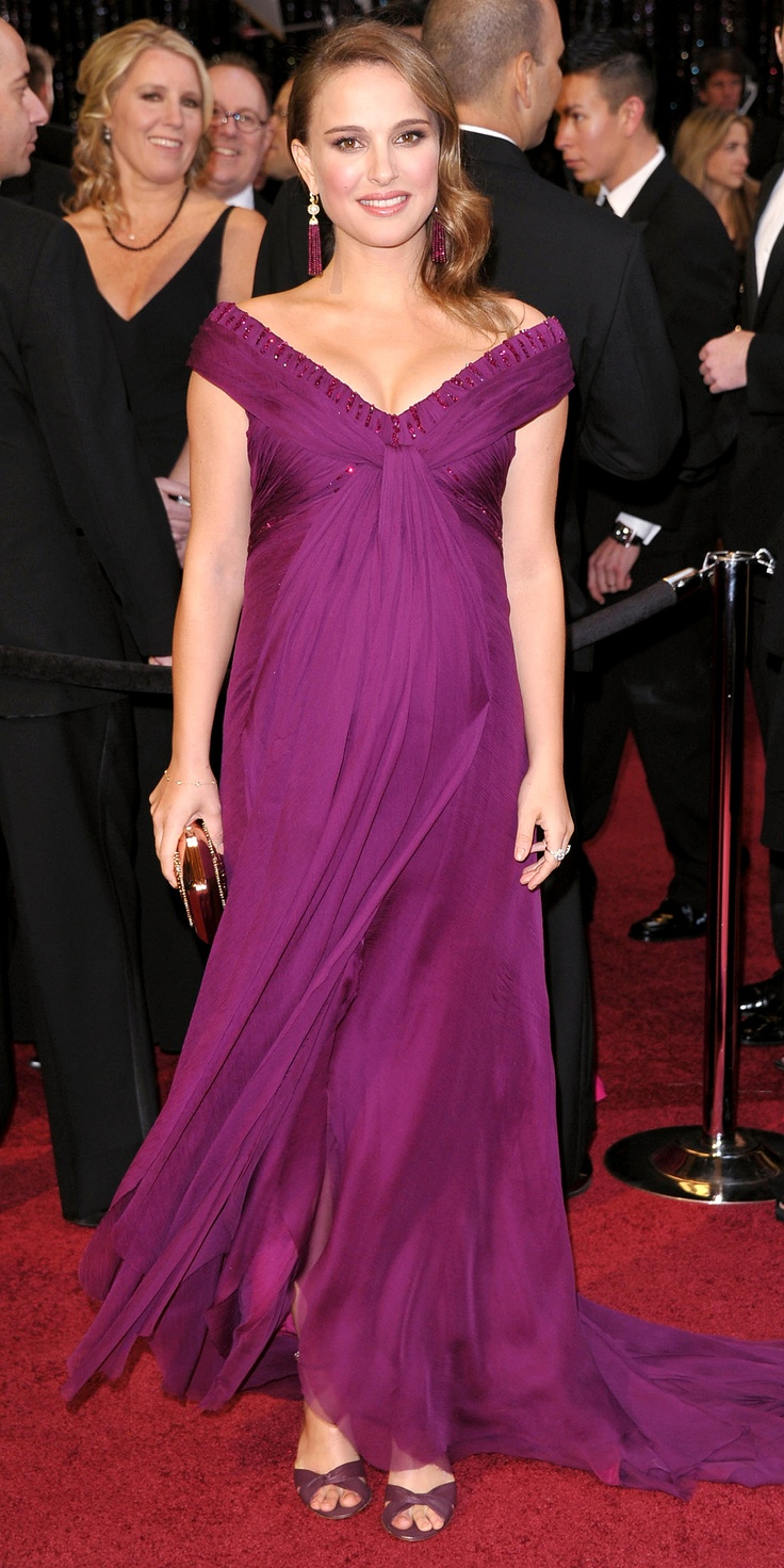 Natalie Portman: Oscars 2011. She looked beautiful and I loved the color of the dress. It was flowy and perfect for her since she was pregnant! So glad she won that night