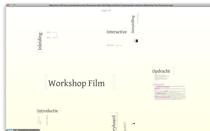 Buro302: opzet workshop film bij de organisatie van 'Event Doorlopende leerlijnen'. April 2011.