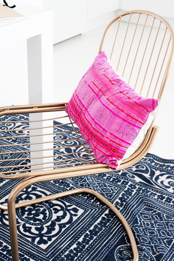 Les 17 meilleures id es de la cat gorie peindre des chaises en m tal sur pint - Repeindre des chaises ...