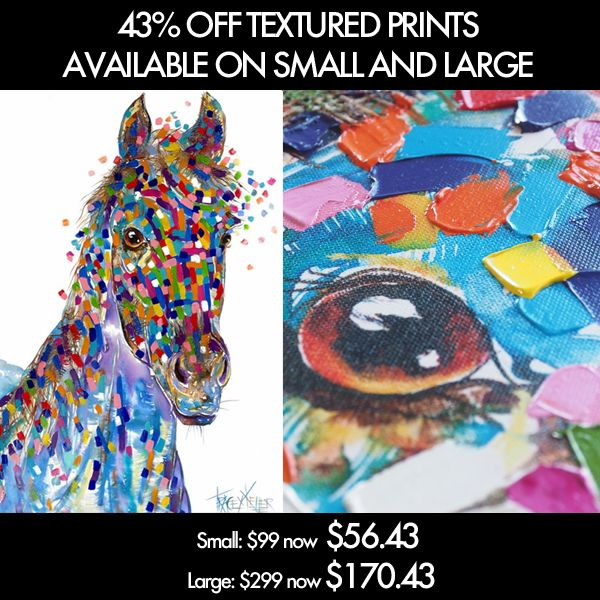 #sale #discount alert! horse blue textured print now on 43% off!!