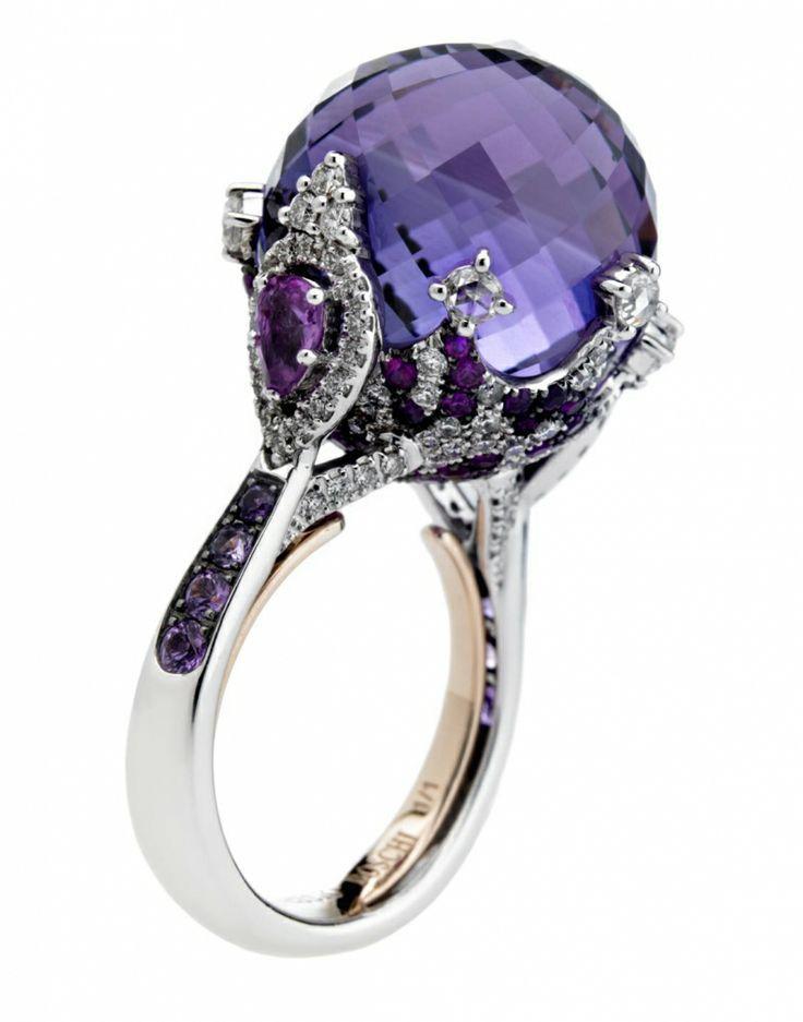 Amethyst ring by Alessio Boschi