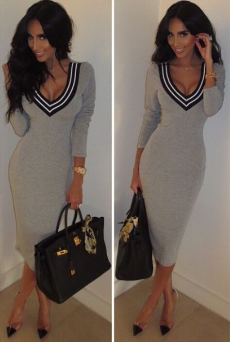 Don't you need something to love? Well, look no further. The Plunging Bodycon Dress features deep V-neck,bodycon design and long sleeves,which can be worked to fit any occasion.Amazing price at CUPSHE.COM