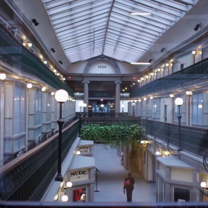 This historic shopping mall was converted into adorable microapartments.