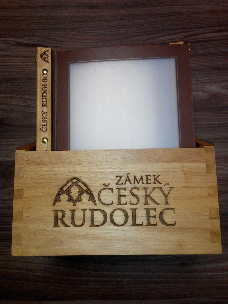 Menu box and menu engraving for Castle Czech Rudolec