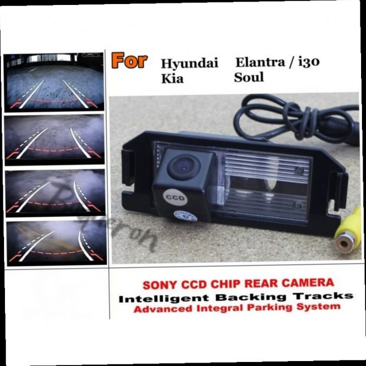 54.20$  Buy now - http://ali4vb.worldwells.pw/go.php?t=32421733428 - For Hyundai Elantra Touring  i30 / For Kia Soul Intelligent Car Parking Camera / with Tracks Module Rear Camera CCD Night Vision