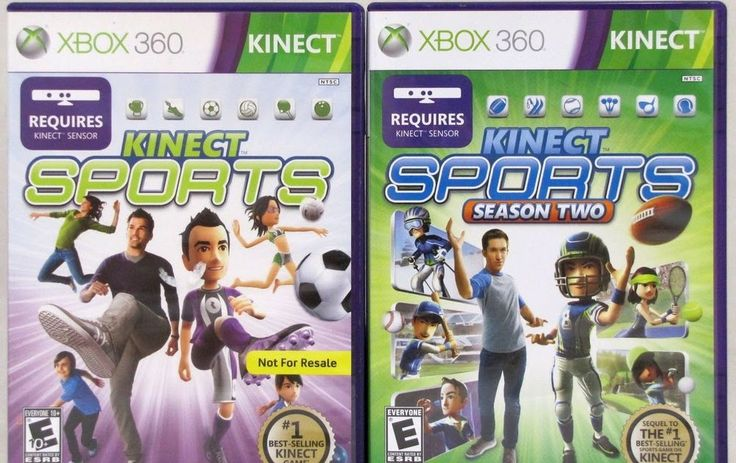 Kinect Sports Season 1 and 2 Xbox 360 Video Game Bundle Lot of 2 Games