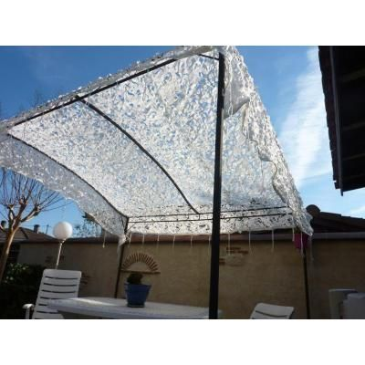 00001 Filet Armee Anglaise Blanc Renforce Rideau Pergola - Filet Camouflage Terrasse