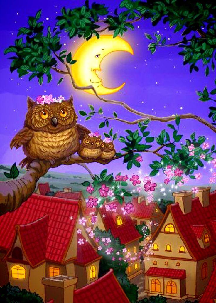 Красивые картинки, доброй ночи полуночникам картинки