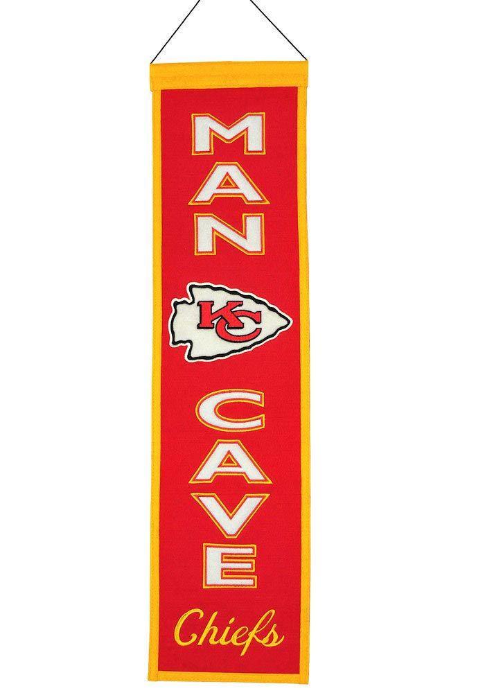 The Man Cave Store Kansas City : Kansas city chiefs man cave banner kc