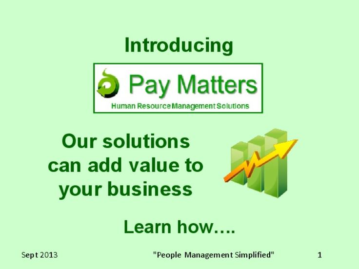 Introduction to Pay Matters. Learn how your business can benefit from the services we offer.