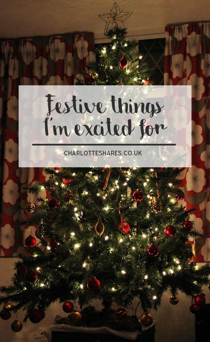 Christmas is quickly approaching. It's such an exciting time of year with many lovely things. Here are the festive things I'm most looking forward to.