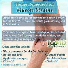 Home Remedies for a Muscle Strain