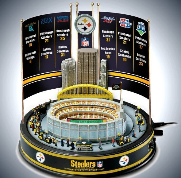 Carousel Music Boxes - NFL Pittsburgh Steelers Super Bowl Champions Musical Carousel