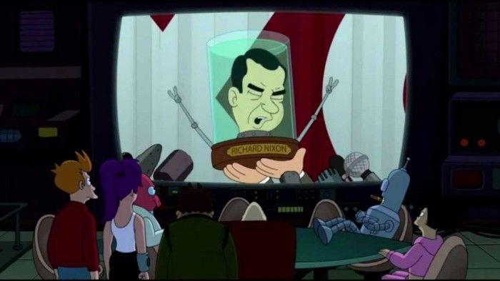 Richard M Nixon Was A Head In The Polls In Futurama