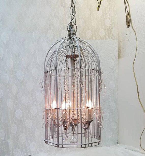 Vintage Shabby Chic Birdcage Chandelier Five Light Pee