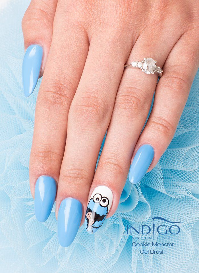 by Paulina Walaszczyk Indigo Educator! Follow us on Pinterest. Find more inspiration at www.indigo-nails.com #nailart #nails #indigo #cookie #monster
