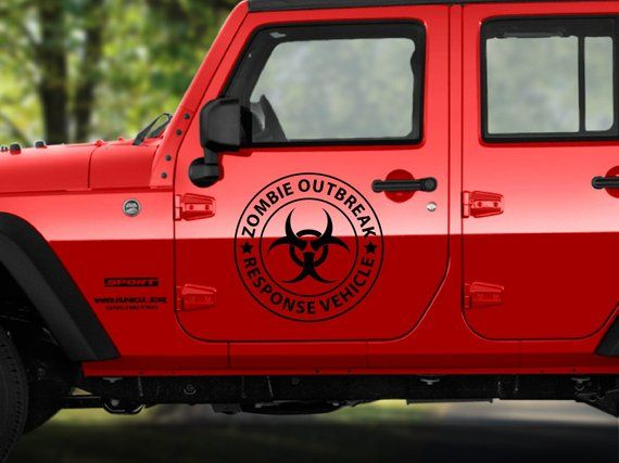 Zombie Outbreak Response Unit decal Custom vinyl sticker Jeep Cherokee XJ