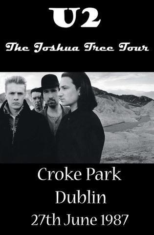 U2 - Croke Park 87 - Mini Print
