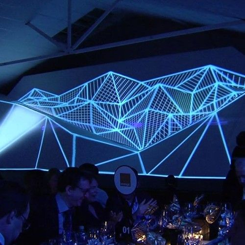 Stage Design Projection Mapping Geometric Faceted