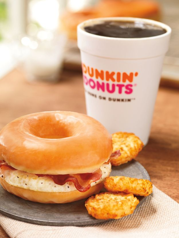 Behold, Dunkin Donuts new Donut Bacon Sandwich: