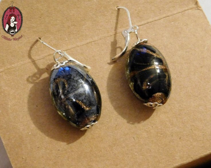 Brown GlassBeaded Earrings  My website: http://blitheproject.hu/ Facebook: https://www.facebook.com/blitheproject
