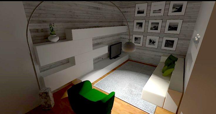 Esami finali Corso di Interior Design (www.madeininterior.it): progetto di Interni di Laura Noè