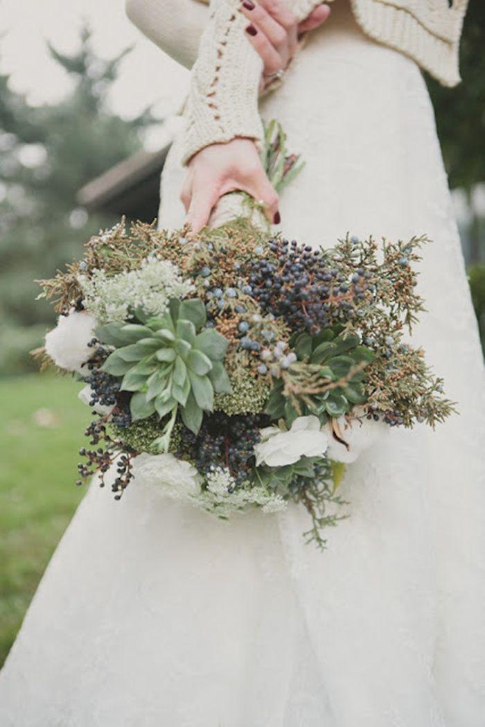 Colores neutros para una perfecta boda de invierno  #bouquetnovia: