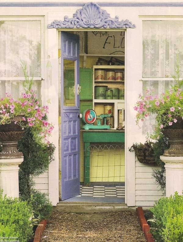 inspires me to paint the garden shed...
