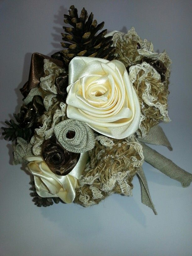 Our latest creation,  a rustic bridal bouquet