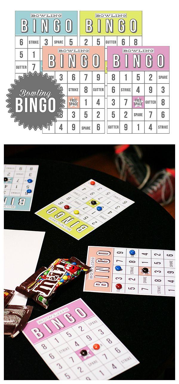 Bowling Bingo | Free Printable - keeps the kids busy while ...