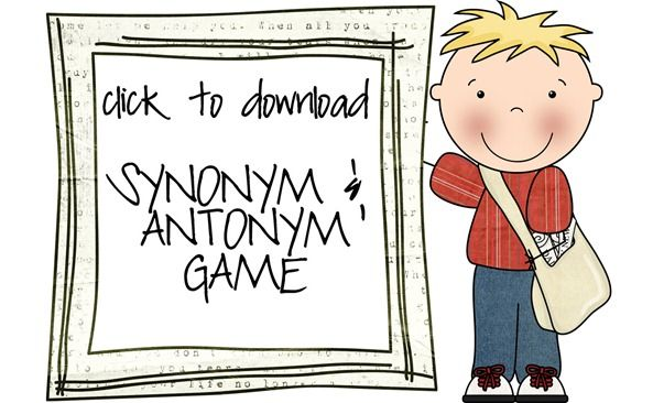 synonym/antonym game - printable cards - Re-pinned by #PediaStaff.  Visit http://ht.ly/63sNt for all our pediatric therapy pins