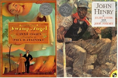 Kindergarten Library Lessons on tall tales and stretching the truth