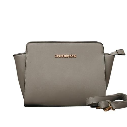 Michael Kors Selma Messenger Medium Grey Crossbody Bags