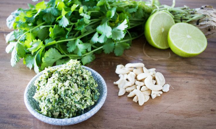 Coriander and lime pesto - discover how this simple recipe has the ability to heal, nourish and detoxify at www.wellnourished.com.au.