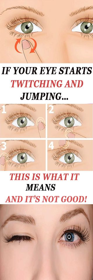 IF YOUR EYE STARTS TWITCHING AND JUMPING…THIS IS WHAT IT MEANS AND IT'S NOT GOOD!