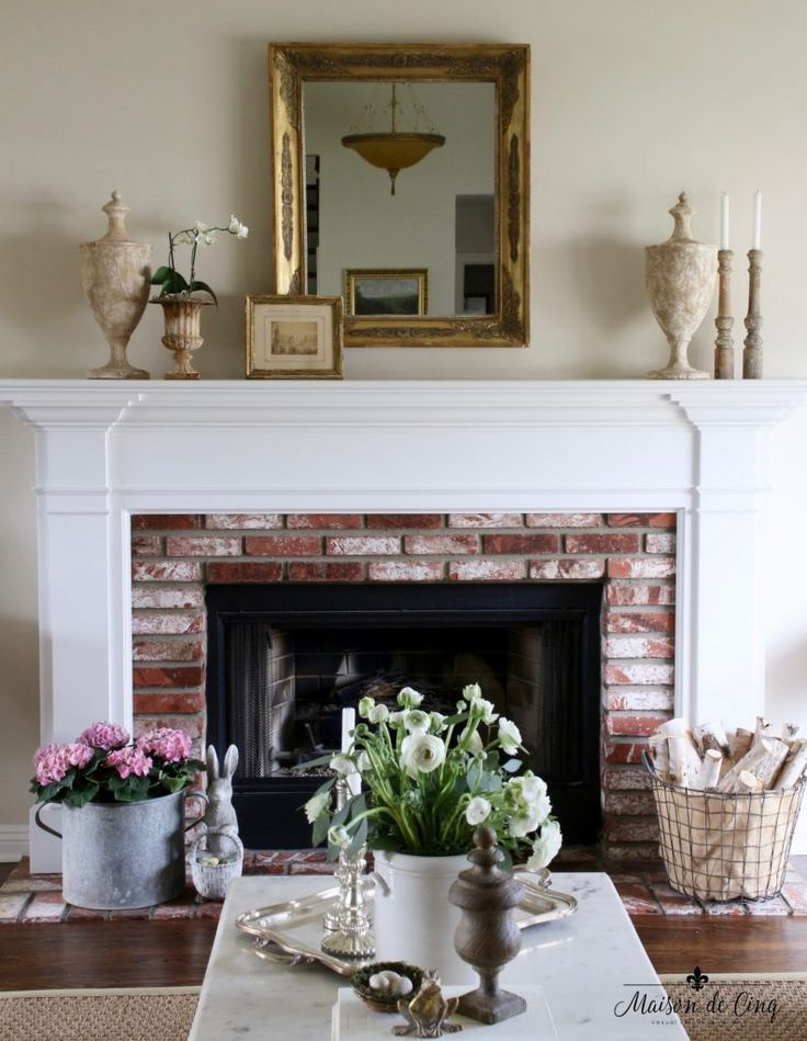 mantel decorating three ways to decorate a spring mantel over the rh pinterest com