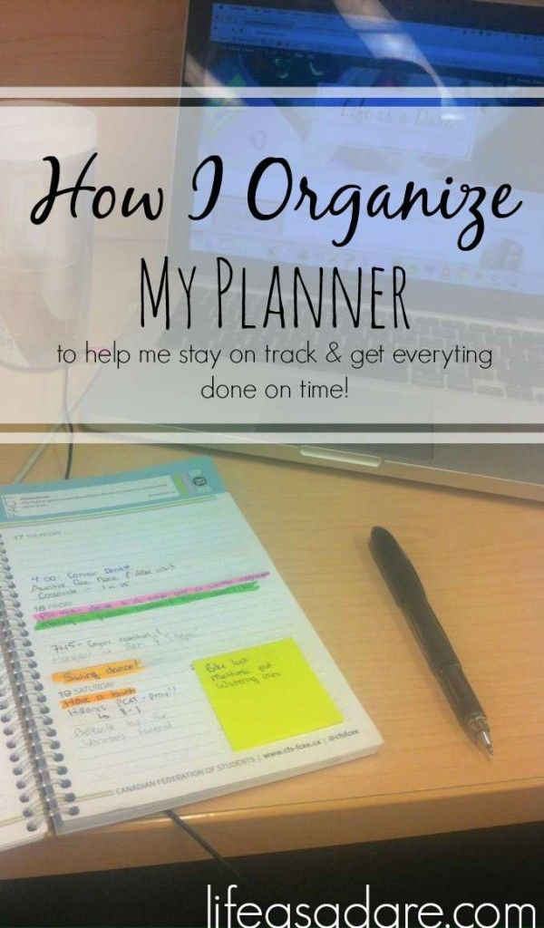 If I didn't know how to organize my planner, I wouldn't get anything done! Here's a no-nonsense, easy-to-follow guide for how to organize your agenda to stay on top of college life! Read the rest at Life as a Dare