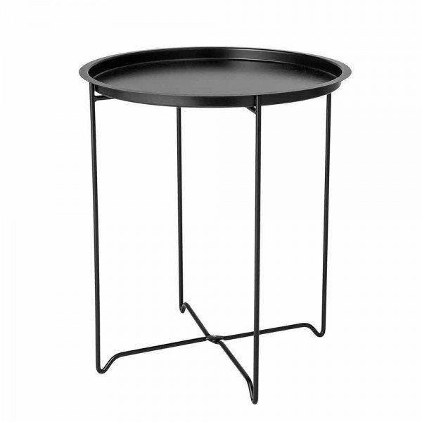 Couchtisch Rund In Matt Schwarzer Farbe Beistelltisch Couchtisch Retro Design Indoormobel Tablett Couchtisch Sofa Tisch Sofatisch